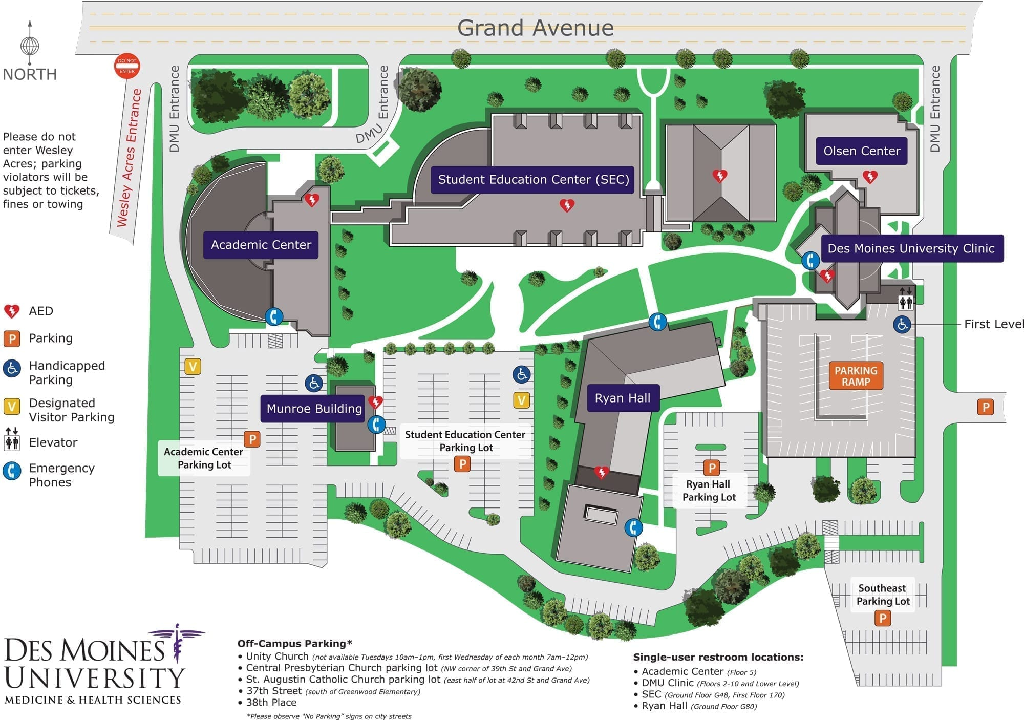 DMU Illustrated Campus Map