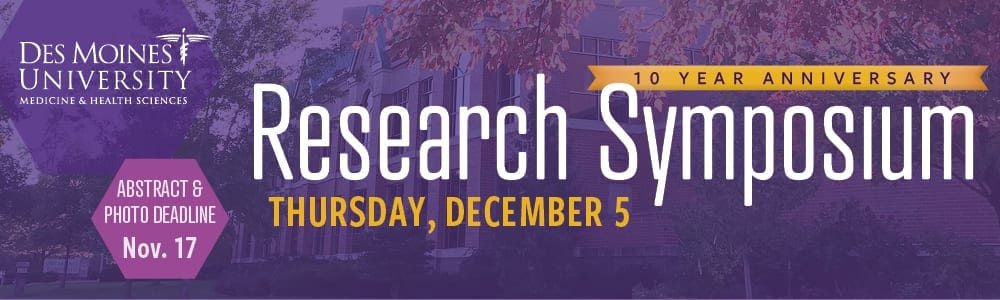 Des Moines University 2019 Research Symposium
