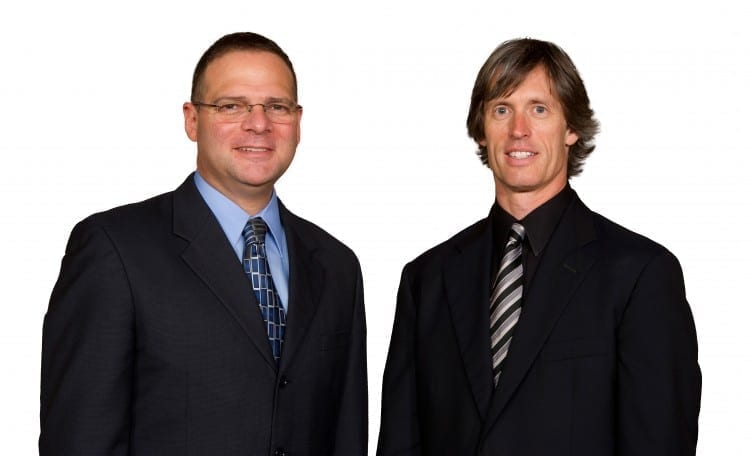 Marco Coppola, D.O.'89, FACEP, and Kevin Klauer, D.O.'92, EJD, FACEP
