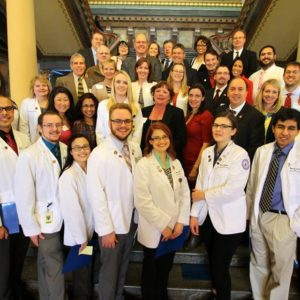 DMU students were among those discussing health policy issues with elected officials at the Iowa Capitol Building.