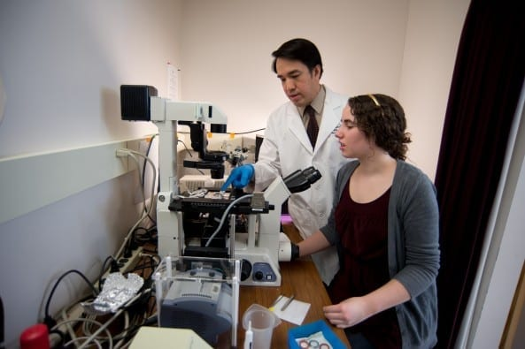 Dr Tran and female student-022813-0152