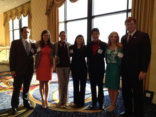 Tara Hughes (middle) and her COSGP Executive Board