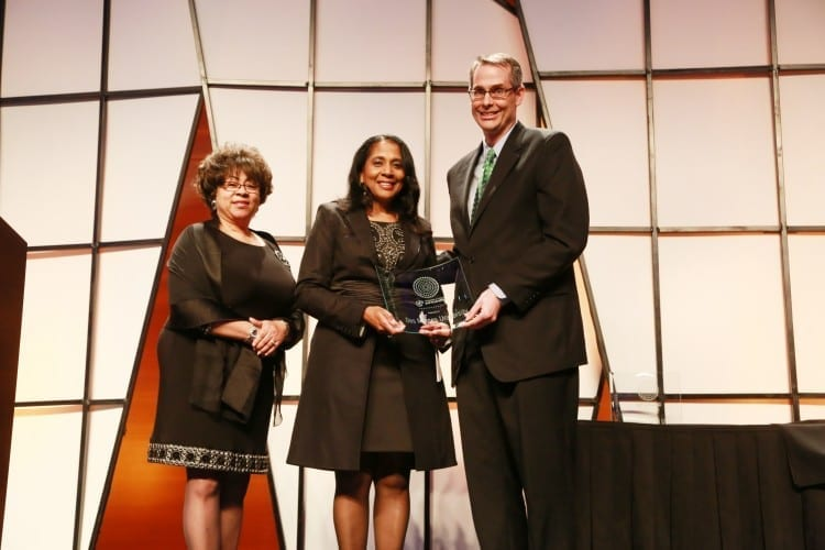 President Angela L. Walker Franklin accepts the 2014 Inclusion Award