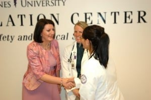 President Jahjaga meets with DMU students