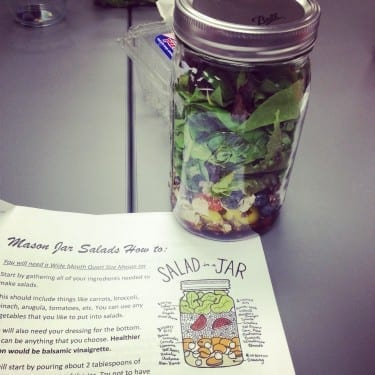 Behold the beauty of Mason jar salad!