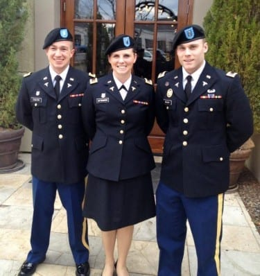 They're taking the lead in helping future military officers succeed: Top officers of the national Student Association of Military Osteopathic Physicians and Surgeons (SAMOPS) are DMU students Justin Chaltry, vice president; Megan Loftsgaarden, secretary; and Joshua Dilday, president.