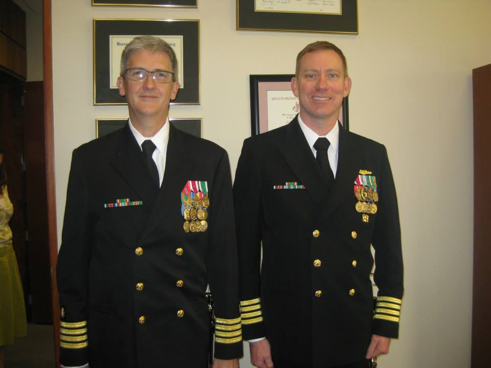 Capt. Kyle Petersen, D.O.'94, and Adam W. Armstrong, D.O.'96