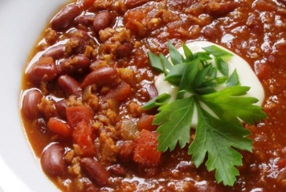 Soy protein chili