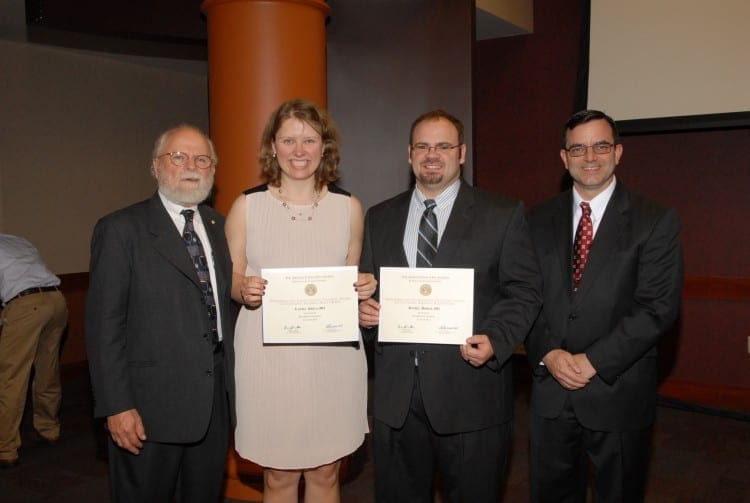 2014 Humanism and Excellent in Teaching Award recipients with Dr. Hoff and Dr. Polk