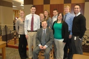 DMU graduate and ACOI President Robert Good, D.O., with leaders of the Internal Medicine Interest Group