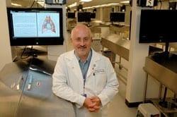 Dr. Matz in the anatomy lab