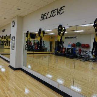 Interior updates featuring the  Exercise Room at the Wellness Center in 2015.