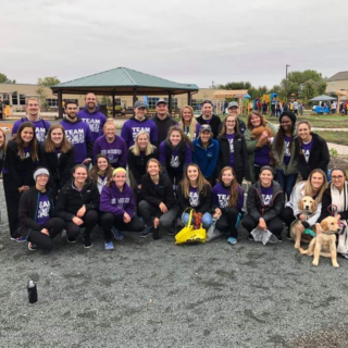 These DMU physical therapy students raised funds and volunteered at a walk to support the fight against Parkinson's disease.