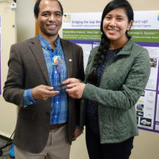 Dr. Spocter and Aracely Miron-Ocampo presented a poster at the DMU Research Symposium on Dec. 5.