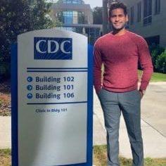 DMU student Harikrishna 'Kris' Halaharvi experienced research at the CDC during his Distinguished Global Health Internship in summer 2019.