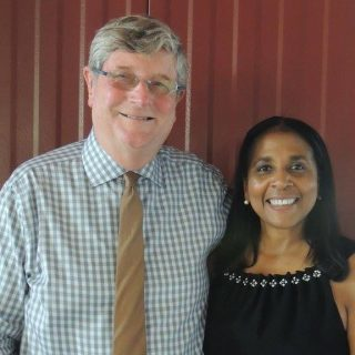 Wellmark Chair and CEO John Forsyth and DMU President and CEO Angela Walker Franklin.
