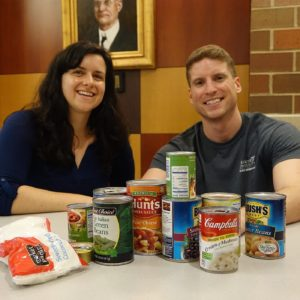 Riane Teagarden and Nicholas Staub helped provide a meal for hundreds of local children through their fundraiser.
