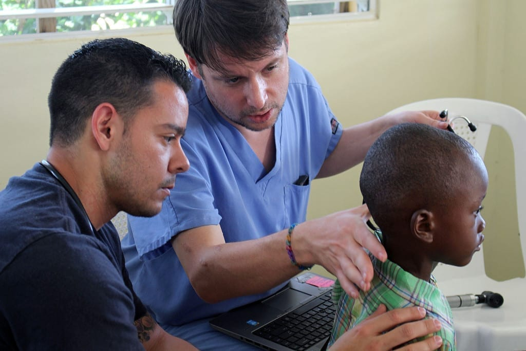 Students treat underserved patients abroad and at home on Global Health medical service trips.
