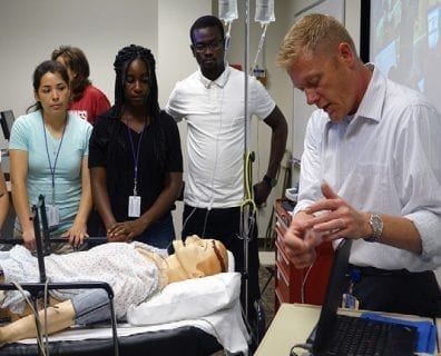Health PASS students in the simulation lab.