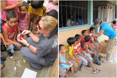 Students provide care in Honduras on the 2012 medical service trip