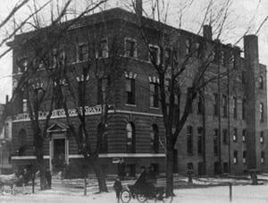 The original Still College building, located at 1428 Locust Street, c.1900