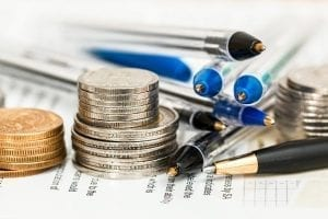 Pens and coins