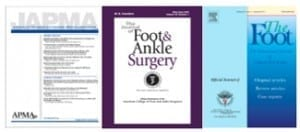 Podiatric professional journals