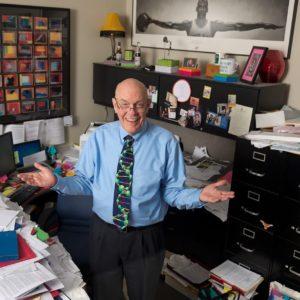 Tom Mueller, Ph.D., in his office